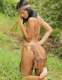 Karla Spice - Luscious Native American teeny shows what's hidden under her clothes