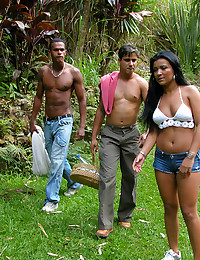 Two dicks in Brazilian outdoors