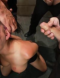 Horny Sex Slave Gets Many Cocks