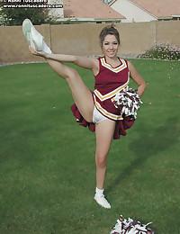 Ronni Tuscadero - Sexy blondie in slutty cheerleader uniform