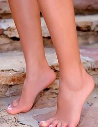 Bare feet outdoors