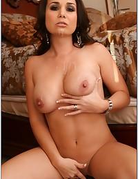 Shaved pornstar pussy filled up