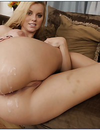 Round Assed Blonde Bounces On Cock