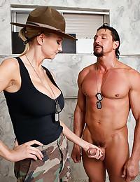 Army girl has big cock sex