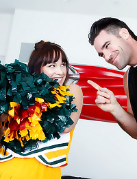 Cheerleader plugged in cunt