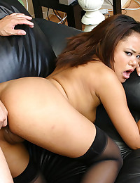 Young stockings girl ass fucked