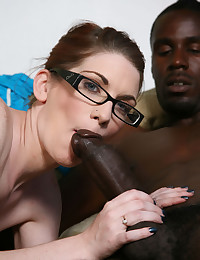 Nerdy girl loves big cock