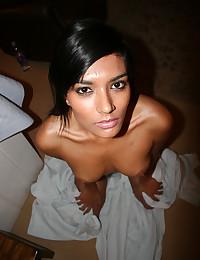 Dark-skinned hot girl is fucked