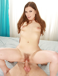 Nubile Teen Gets Hairy Pussy Boned
