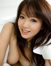 Japanese girl strips from panties