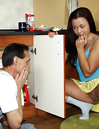 The plumber screwing his sexy teenage client
