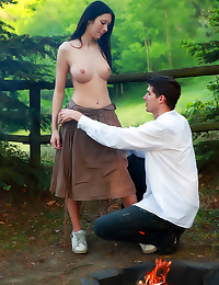 Camping sex with perfect teen