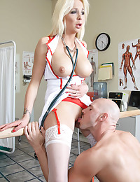 Hot blonde nurse hardcore sex