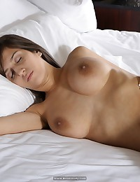 April wakes up nude