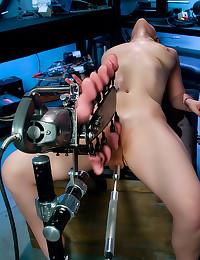 Dildo machines bring her joy