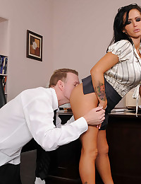 Office Minx Jenna Loves Huge Cock