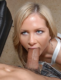 Hot blonde and a big cock