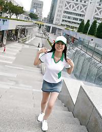 Sporty Asian Babe Strips Down