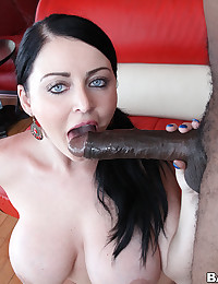 Busty Hottie Impaled On Black Cock