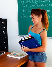 Teacher bones sweet teenage g...