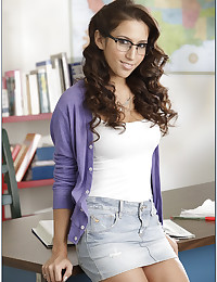 Hot nerd in glasses