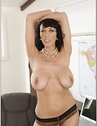 Large tits milf pornstar as teacher
