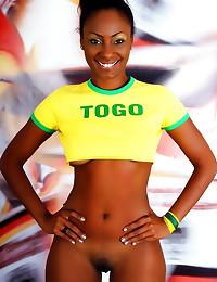 Sporty black girl loves socce...