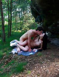 Erotic teen sex in the woods
