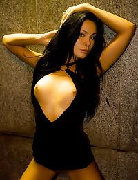 Brunette models nude in publi...