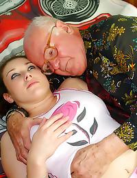 Grandpa bangs a total cutie