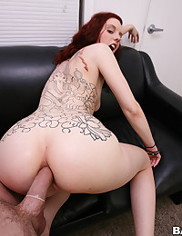 Adorable Redhead Spreads For Cock
