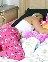 Pajama girl lesbian sleeping ...