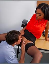 Lustful Latina Teacher Tests Her Student