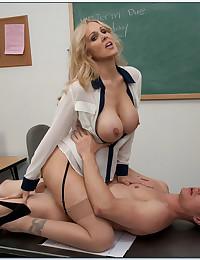 Sensual Blonde Teacher Teaches To Fuck