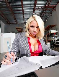 Satin blouse office babe fuck...