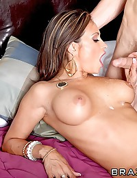 Shaved busty milf ass fucked