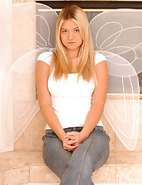 Alison Angel - Cute and busty blonde angel posing seductively for the camera