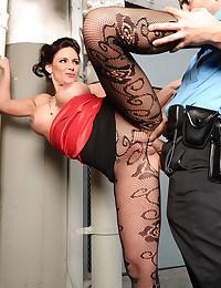 Pantyhose on a hot fuck slut