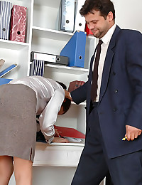 Secretary begins her working ...