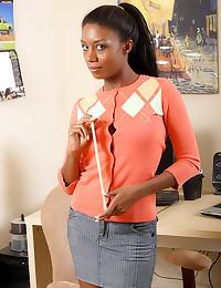 Black girl in a cardigan