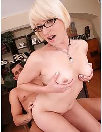 Perky Blonde Teen Nora Porked Hard