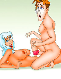 Cartoon foreplay and fucking