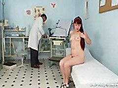 Mature Olga has her redhead hairy pussy gyno speculum e