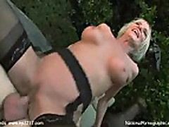 No sound: Hot Blonde Granny Cougar Does Pool Boy