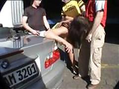 Big tits MILTF Gang Bang