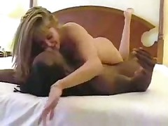 White chick eating black ass before sex