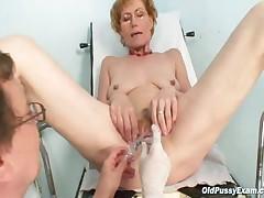 Mila - Classy Old Lady Mila Needs Gyno Clinic Examination