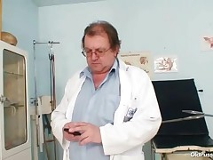 Rosana - Hot Fat Plumper With Big Natural Tits Gets Properly Inspected By Old Dirty Gynecologist