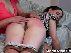 Naughty Teenage Getting Her Pretty Pooper Whipped Stiff Until It Turns Red 2 By Spankedangels