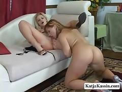 Katja Kassin And Bobbi - Kinky Girl To Girl Action